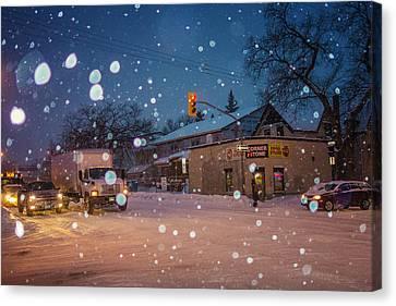 Corner Store Canvas Print by Bryan Scott