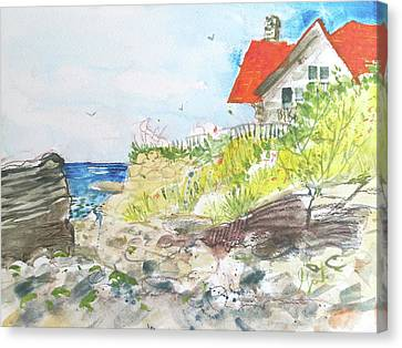 Cornfield Point Old Saybrook Canvas Print by Gertrude Palmer