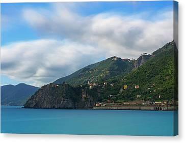 Canvas Print featuring the photograph Corniglia Cinque Terre Italy by Brad Scott