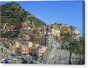 Corniglia In Italy Canvas Print by Patricia Hofmeester