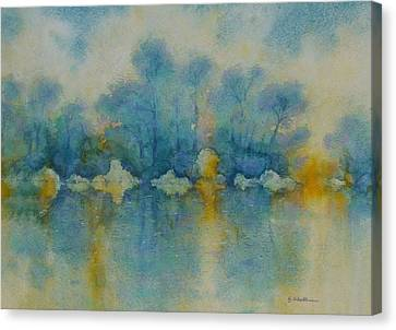 Cornish Blue Canvas Print by Georg Schedlbauer
