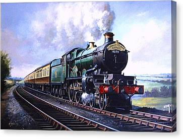 Vintage Trains Canvas Print - Cornish Riviera Express. by Mike Jeffries
