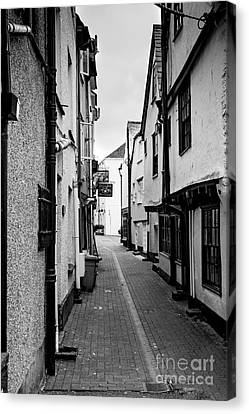 Ally Canvas Print - Cornish Street Looe by Brian Roscorla
