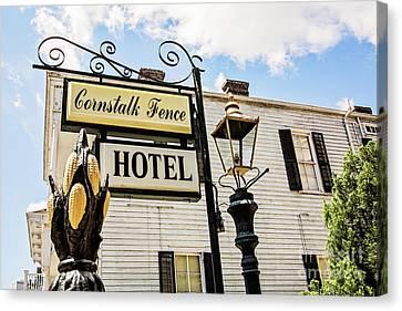 Cornstalk Fence Hotel Canvas Print