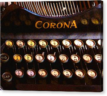 Typewriter Keys Canvas Print - Corona by Timothy Bulone