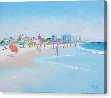 Coronado Beach San Diego Canvas Print by Jan Matson