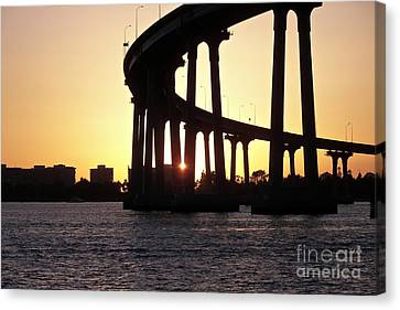 Coronado Bridge Sunset Canvas Print
