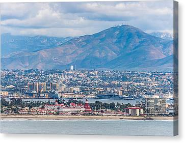 Coronado Coast - San Diego Photograph Canvas Print by Duane Miller