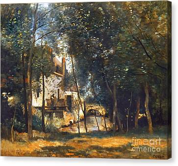 Corot - The Mill Canvas Print by Granger