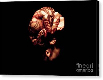 Corporations Over Foetus Canvas Print by Stefano Senise