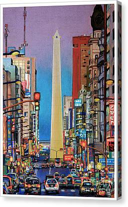 Corrientes Avenue Canvas Print