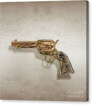 Canvas Print featuring the photograph Corroded Peacemaker by YoPedro
