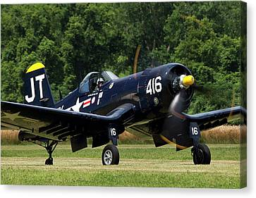 Canvas Print featuring the photograph Corsair Close-up by Peter Chilelli