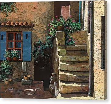Cortile Interno Canvas Print by Guido Borelli