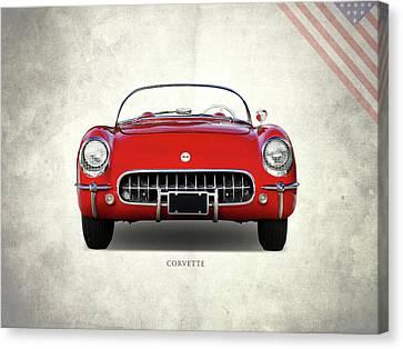 Corvette 1954 Front Canvas Print by Mark Rogan