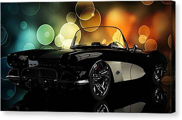 Corvette 1961 Canvas Print