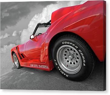 Canvas Print featuring the photograph Corvette Daytona by Gill Billington