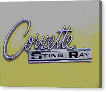 Corvette Emblem Canvas Print by Audrey Venute