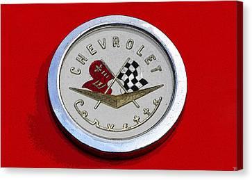 Corvette Emblem Canvas Print