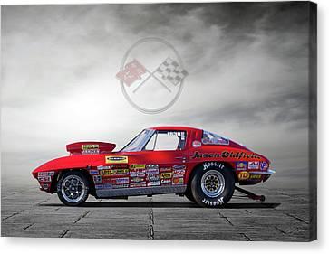 Corvette Profile Canvas Print by Peter Chilelli
