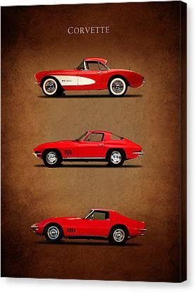 Corvette Series 1 Canvas Print by Mark Rogan