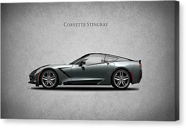 Chevrolets Canvas Print - Corvette Stingray Coupe by Mark Rogan