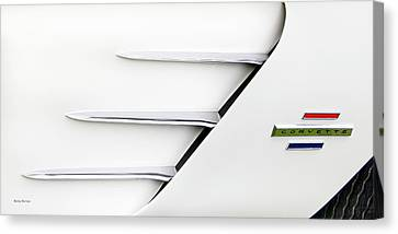 Red Chev Canvas Print - Corvette Vents by Betty Denise