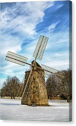 Canvas Print featuring the photograph Corwith Windmill Long Island Ny Cii by Susan Candelario