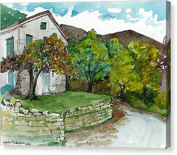 Canvas Print featuring the painting Cosica Italy by Lynn Babineau