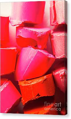 Pink Lipstick Canvas Print - Cosmetic Abstract by Jorgo Photography - Wall Art Gallery
