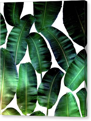 Cosmic Banana Leaves Canvas Print