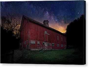 Cosmic Barn Canvas Print by Bill Wakeley