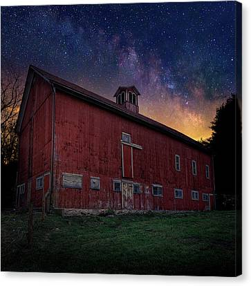 Cosmic Barn Square Canvas Print by Bill Wakeley