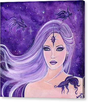 Cosmic Bettas Canvas Print by Renee Lavoie