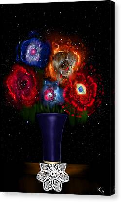 Cosmic Bouquet Canvas Print
