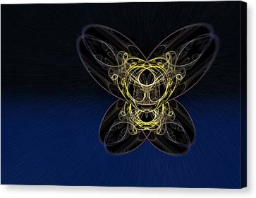 Cosmic Butterfly In Space Zoom Canvas Print by Pelo Blanco Photo