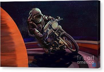 Canvas Print - Cosmic Cafe Racer by Sassan Filsoof