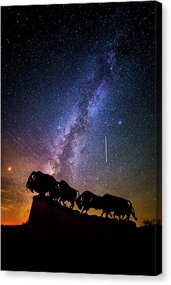 Canvas Print featuring the photograph Cosmic Caprock by Stephen Stookey