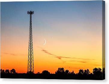 Cosmic Communications Canvas Print by Todd Klassy