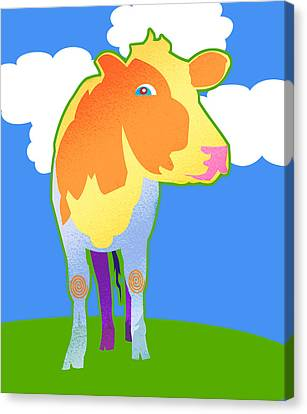 Cosmic Cow Canvas Print by Mary Ogle