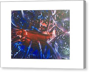 Cosmic Explosion Canvas Print by Pamela Whitlock-Smith