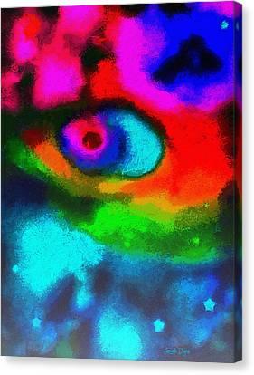 Cosmic Eye - Pa Canvas Print by Leonardo Digenio