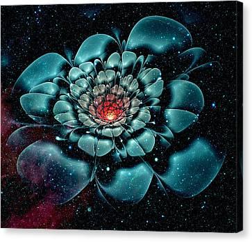 Cosmic Flower Canvas Print by Anastasiya Malakhova