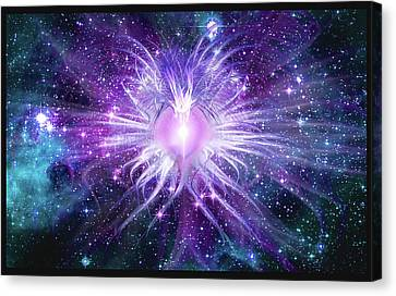 Cosmic Heart Of The Universe Mosaic Canvas Print