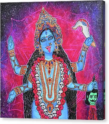 Kali Yantra Canvas Print - Cosmic Kali Maa - Hindu Goddess by Kamakshi Dasi