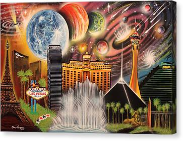 Cosmic Las Vegas Canvas Print