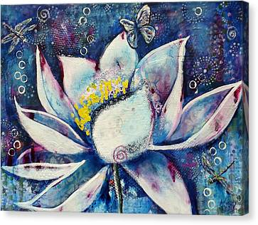Cosmic Lotus Canvas Print