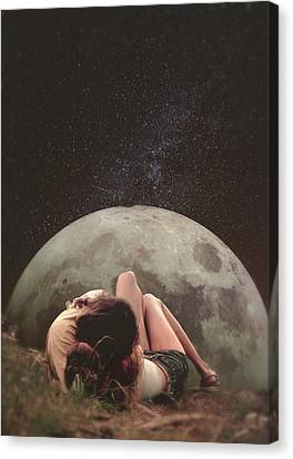 Cosmic Love Canvas Print by Fran Rodriguez