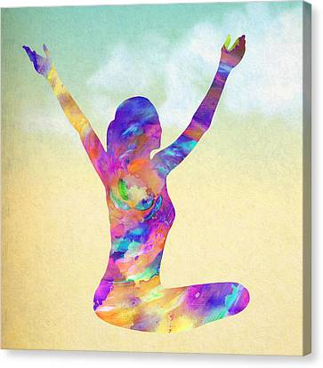 Cosmic Meditation - Texture Canvas Print by Stacey Chiew