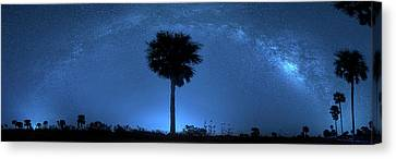 Canvas Print featuring the photograph Cosmic Night by Mark Andrew Thomas